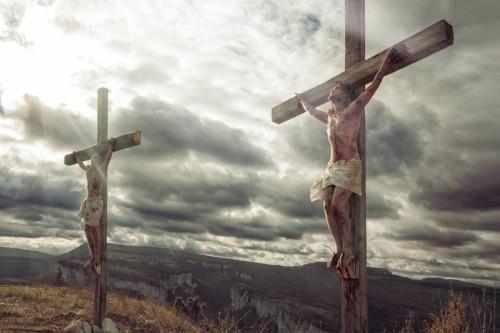Распятые Иисус и разбойник