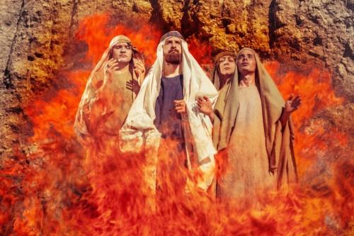 Пророк Даниил и святые три отрока Анания, Азария и  Мисаил.